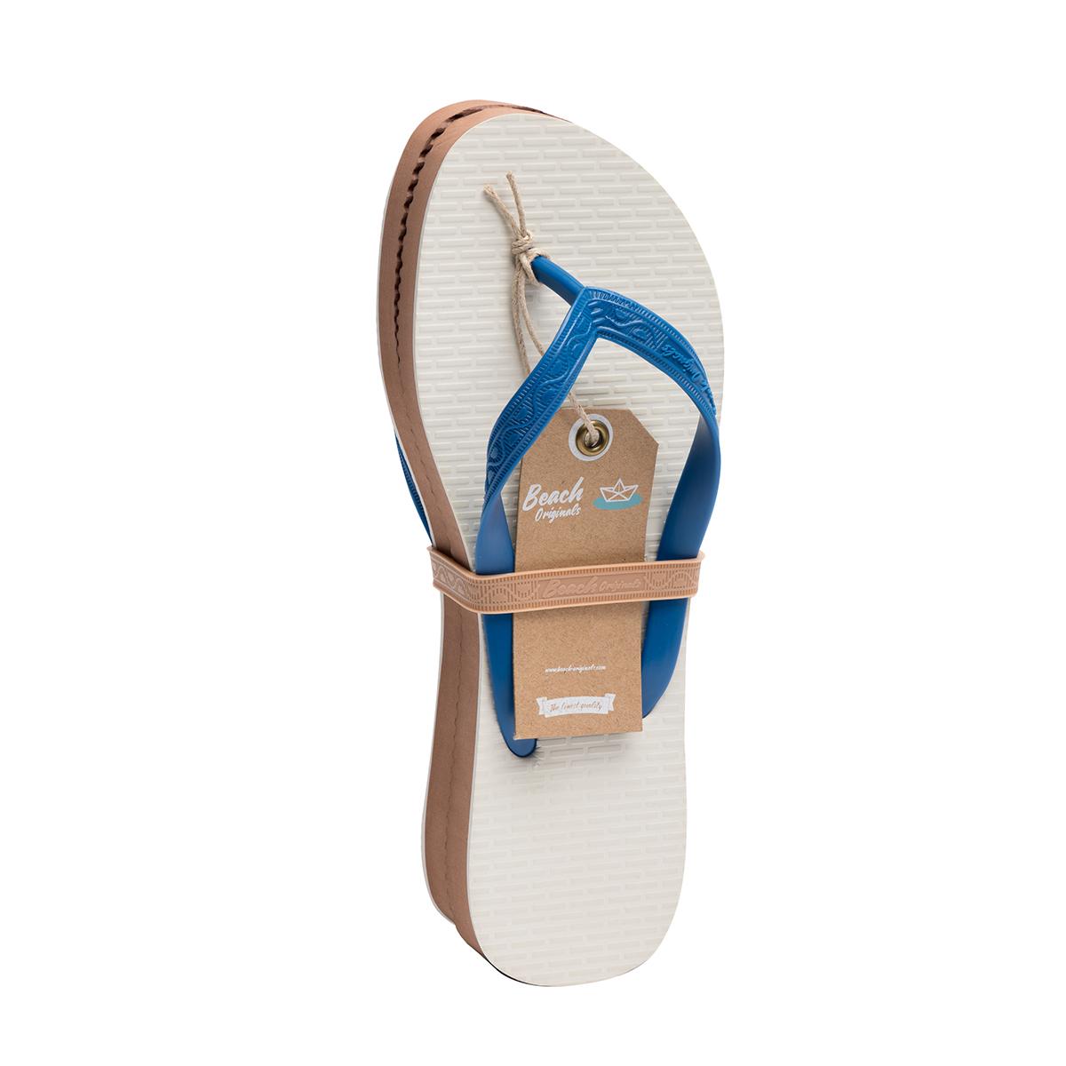Paire de tongs modèle Bornéo bleu sea avec étiquette
