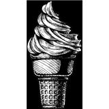 Dessin d'une glace dans un cône